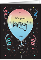 Birthday with Bright Floral Pattern on Pink card
