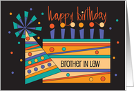 Birthday for Brother-in-Law, Trio of Basketballs on Brown card