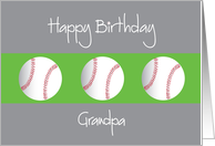 Happy Birthday for Grandpa with Trio of Baseballs card