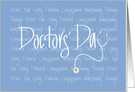 Doctors' Day, Stethoscope and Handlettered Qualities of Doctors card