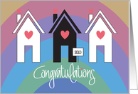 Realtor's Congratulations on Selling Home, Trio of Patterned Homes card
