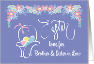 Easter for Brother and Wife, Easter Basket and Eggs card