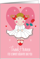 Valentine for Daughter, I Love you Bear with Balloon card
