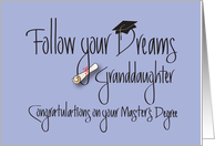 Graduation for Granddaughter for Master's Degree, Diploma card