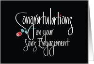 Congratulations on your Son's Engagement, Red Rose card