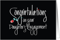Congratulations on your Daughter's Engagement, Red Rose card