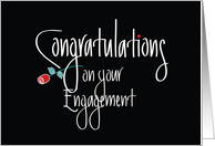 Congratulations on your Engagement, Long Stem Red Rose card