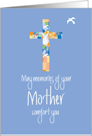 Sympathy for Loss of Mother, Blue Stained Glass Cross card