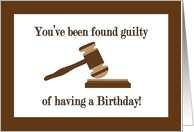 Birthday for Attorney, Gavel and Sound Block card