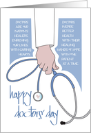 Doctors' Day with White Pocket and Stethoscope card