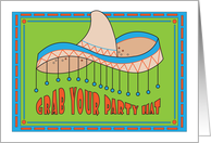 Invitation for Cinco de Mayo Party, Grab your Party Hat card