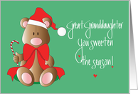 Christmas for Great Granddaughter, Bear, Sweeten the Season card