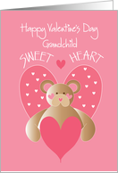 Valentine's Day for Grandchild, Bear with Heart, Sweet Heart card