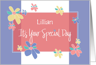 Floral Birthday with Custom Name, It's Your Special Day card