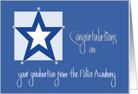 Congratulations for Police Academy Graduation with Star card