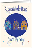 Realtor Retirement Congratulations, Trio of Homes & Sold Sign card