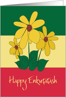 Enkutatash Ethiopian New Year, Yellow Meskel Flower Bouquet card