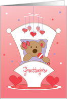 First Valentine's Day for Granddaughter with hugs and kisses card