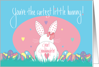 1st Easter Bunny Hugs and Kisses for Great Granddaughter card