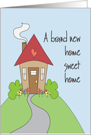 A brand new home sweet home card