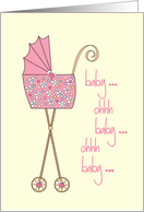 Congratulations on your new granddaughter with colorful stroller card