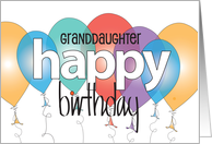 Happy Birthday for Granddaughter, Surfing with beach, surfboards & waves card