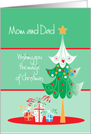 Christmas for Mom and Dad with decorated tree card