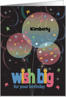 Happy Birthday with colorful balloons and confetti card