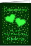 Wedding Congratulations Saint Patrick�s Day Nuptials card