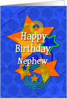 Happy Birthday Nephew Awesome Boy Stars card