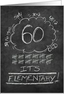 60th Birthday Chalkboard Look Funny card