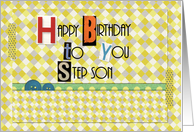 Happy Birthday Step Son Magazine Cutouts Scrapbook Style card