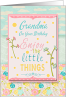 Happy Birthday Grandma Pretty Flowers and Pastels card