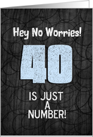 40th Birthday Funny Chalkboard Style Birthday Greetings card