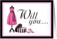 Will you be my Bridesmaid? Invitation Card