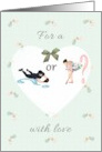 Gender reveal baby shower gift, touchdown or tutus, rattles and heart card