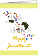Celebrate Juneteenth, We are all equal card