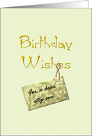 Birthday for step son, Warm wishes card