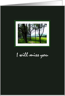 Final good bye for friend, end of life, photograph of a peaceful country scene card