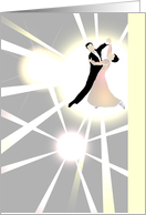 Birthday, ballroom dance, couple dancing in the spotlight card