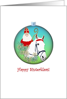 Happy Sinterklaas, Sinterklaas on a white horse card