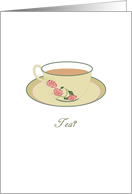 Invitation to tea, cup of tea card