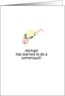 Customizable name congratulations on learning to do a somersault card