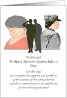 National Military Spouse Appreciation Day, service personnel spouses card