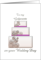 Congratulations to godparents on their wedding day, Wedding cake card
