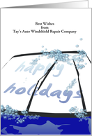 Customizable greeting auto windshield repair company to customers card