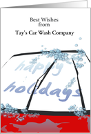 Customizable greeting car wash company to customers card