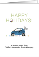 Customizable greeting automotive repair company to customers card