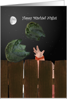 Mischief Night, Tossing cabbages card