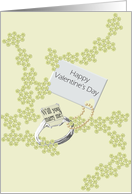 Valentine's Day proposal, Marry me solitaire ring card